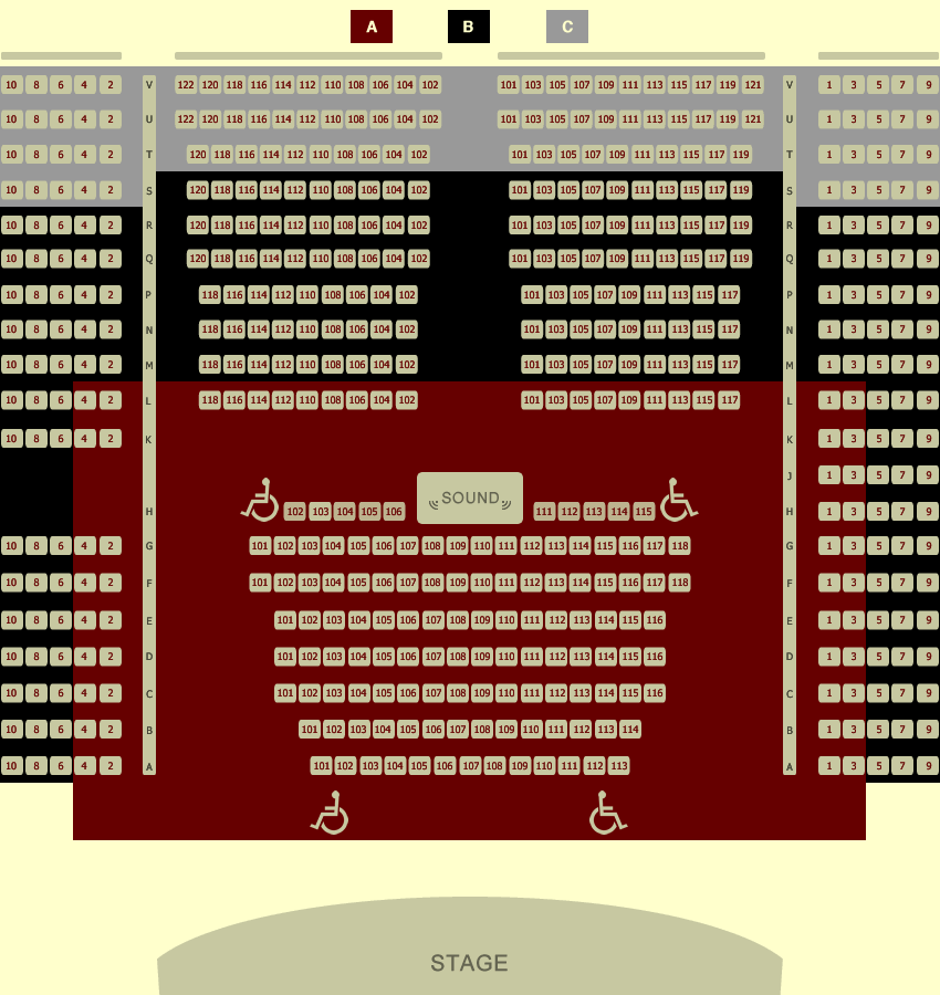 Seating Chart Liberty Theatre